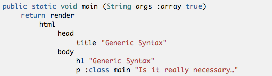 generic syntax